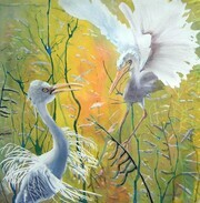 'Egret Greeting'